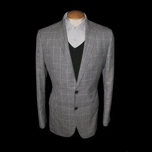 Brooks Brothers Fitzgerald Wool Silk Houndstooth